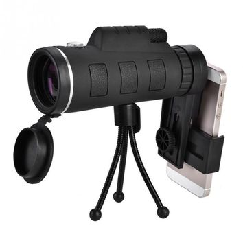 40X Monocular Telescope Outdoor Camping Hunting Spotting Scope Concert Optical Lens + Clip + Tripod For Mobile Phone Photography