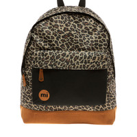 Mi-Pac Leopard Backpack with Contrast Pocket