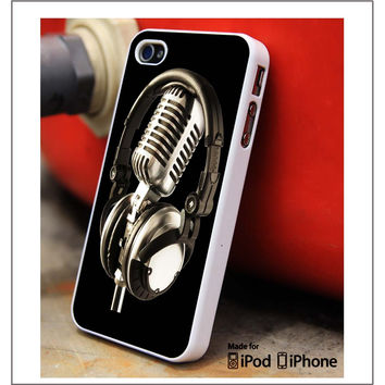 Mic And Headphones iPhone 4s iPhone 5 iPhone 5s iPhone 6 case, Galaxy S3 Galaxy S4 Galaxy S5 Note 3 Note 4 case, iPod 4 5 Case