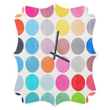 Garima Dhawan Colorplay 9 Quatrefoil Clock
