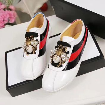 GUCCI 3D butterfly bee sneakers