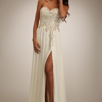 Temptation 2103 Ivory Evening Dress