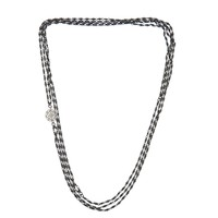 AKIRA Long Layered Necklace - Gunmetal