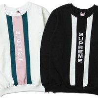Hoodies Stripes Alphabet Couple Jacket [17370316819]