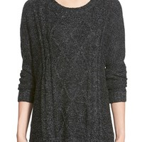 Junior Women's Dreamers by Debut Cable Knit Sweater,