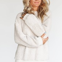 Only The Good Oatmeal Fuzzy Pullover