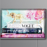 Library of a Fashionista Lightbox (Canvas)