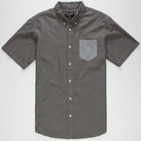 Retrofit Nathan Mens Shirt Charcoal  In Sizes