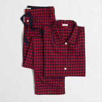 Factory flannel pajama set : Sleep | J.Crew Factory
