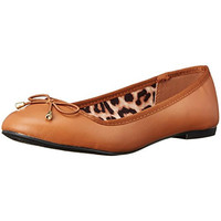 Qupid Womens Faux Leather Slip On Ballet Flats