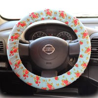 Steering-wheel-cover-for-wheel-car-accessories-Floral-Sky-Blue-Steering-Wheel-cover