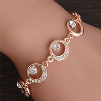 Trendy Summer New Fashion Hot Round Crystal Jewelry charm bracelet & anklet for women Hot bracelets for women
