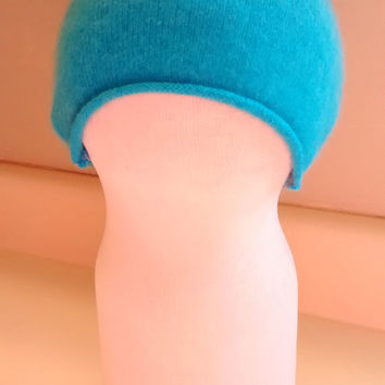 Soft baby hat, newborn, hospital, cashmere baby hat, preemie,  baby gift, blue, turquoise,  boy, girl, easter