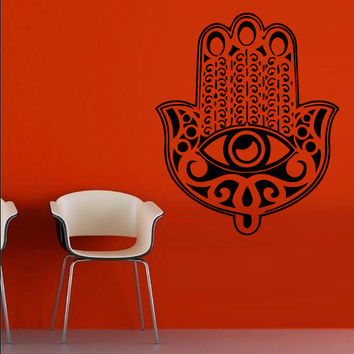 Wall decal decor decals art sticker all seeing eye annuit coeptis illuminati god hand anchovy Fatima (m764)