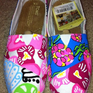 Lilly Pulitzer Painted Toms - 3 patterns