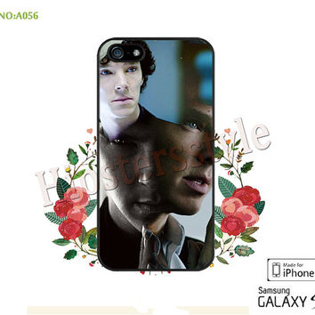 BBC Sherlock Benedict Cumberbatch Phone case iPhone 5/5S/5C Case, iPhone 4/4S Case, S3 S4 S5 Note 2 Note 3 Case for iPhone-A056