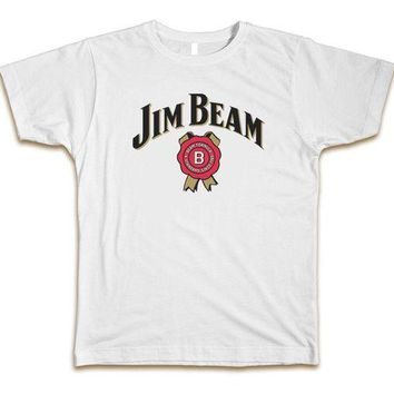 DCCKV2S Jim Beam Men's T-Shirt Tee New - White Print T-Shirt Male Brand Novelty Cool Tops Men Short Sleeve T Shirt 2017 New Brand