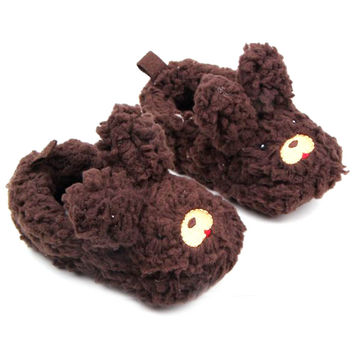 0-12M Baby Girls Boy Shoes Toddlers Warm Plush Slippers Soft Prewalker Shoes born First Walkers SM6