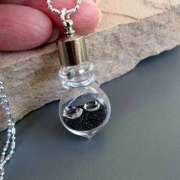 Two AAA Herkimer Diamonds Sparkling Black Gold by ArtInspiredGifts