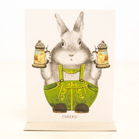 Cheers Bunny Greeting Card