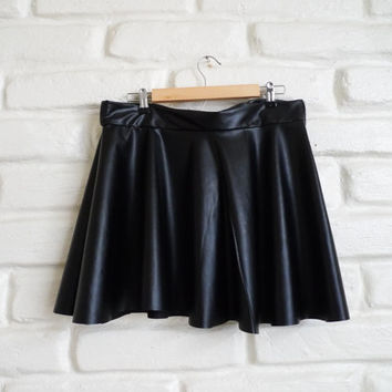 Leather Skater Circle Skirt