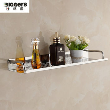 High-Quality 304 Stainless Steel Kitchen Wall Shelf Bathroom Wall Shelf 20Cm 30Cm 40Cm 50Cm 60Cm Length