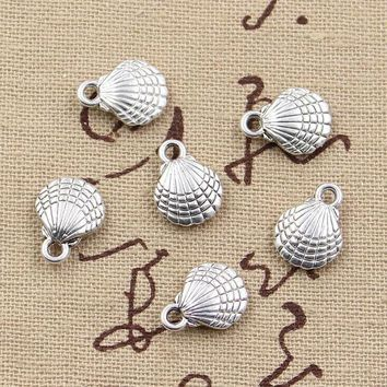 ESBONHS 20pcs Charms double sided shell 21*11mm Antique charms pendant fit,Vintage Tibetan Silver,DIY for bracelet necklace