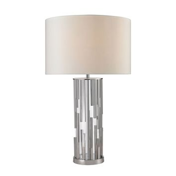 D2673 Trump Home Livornio Clear Glass Table Lamp in Polished Nickel - Free Shipping!