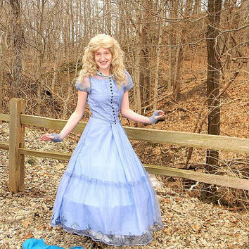 Tim Burton Alice in Wonderland Costume cosplay USED for sale.