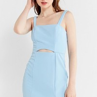 UO Straight-Neck Cut-Out Bodycon Mini Dress   Urban Outfitters