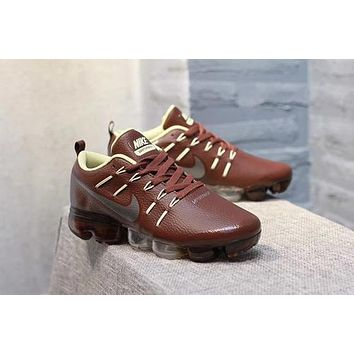 DCCK N316 Nike Air Vapormax Flyknit Leather Casual Running Shoes Brown