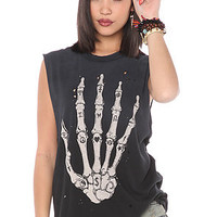 UNIF Tee Skullhand Black