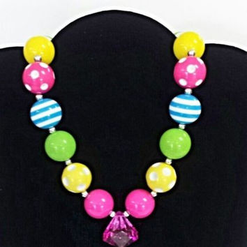 The Emily Bubblegum Chunky Necklace