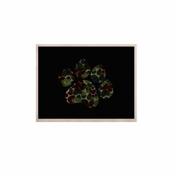 """Eikwox """"Camo Paw"""" Green Brown Illustration Digital Animal Print Animals KESS Naturals Canvas (Frame not Included)"""