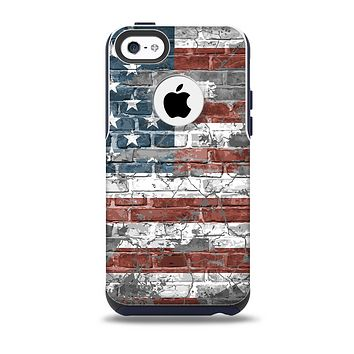 The Vintage USA Flag Skin for the iPhone 5c OtterBox Commuter Case