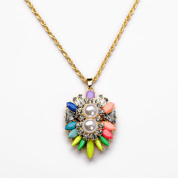 Shourouk Necklace Pendant Jewelry Crystal Flower Cluster Necklace Long Women Necklace Jewelry Cheap Necklace Wholesale Jewelry For Women