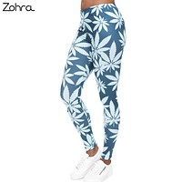 CannaMint - Mint Colored High Waist - Stretch Weed Leaf Yoga Pants - Women's CannaFit Collection Leggings
