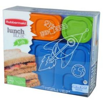 Rubbermaid LunchBlox Kids Flat Lunch Kit, Blue