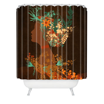 Viviana Gonzalez Mujer Floral I Shower Curtain