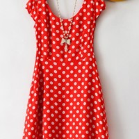 High Waist Vintage Dots Dress