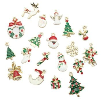 19pcs New Year  Metal Alloy Christmas Charm Decor Set