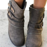 Who's Talkin Taupe Booties