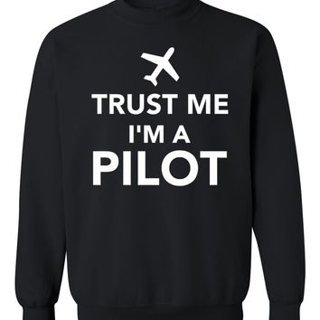 XQXON-large aircraft trust me l am a pilot print men Women Sweatshirts casual thicken pullover hoodies clothes -70