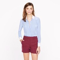 Silk boy blouse with contrast trim - shirts & tops - Women's new arrivals - J.Crew