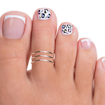 Sterling Silver Triple Band Toe Ring, Silver Adjustable Toe Ring, Silver Toe Ring, Band Toe Ring, Toe Ring, Thin Toe Ring
