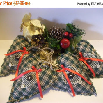 Christmas Decor Ornaments, Hearts, Primitive Style, Vintage Style, Handmade, Bowl Fillers, Scented, Country, Cottage Chic