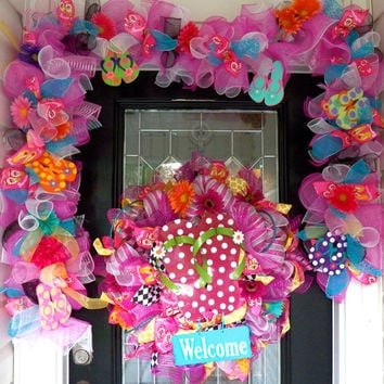 6a009983e Best Summer Wreaths With Flip Flops Products on Wanelo