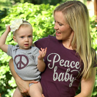 Peace Baby! Mommy & Me shirt set