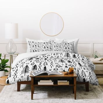 Heather Dutton Winter Wonderland White Duvet Cover