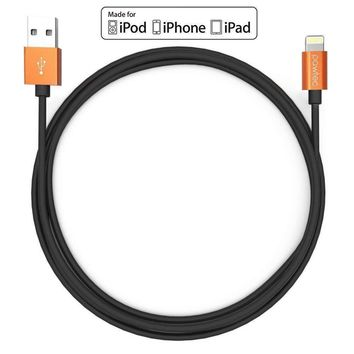 Heavy Duty Metal 3ft Braided Lightning USB Charger Cable 1M For iPhone X 8 7 6 5